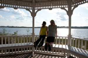 Girls at Gazebo