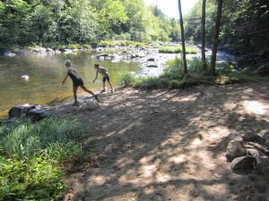 falls hike beach
