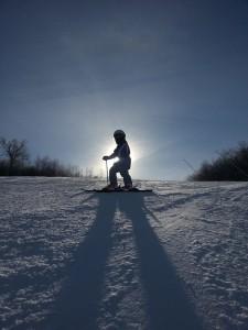 J on skis