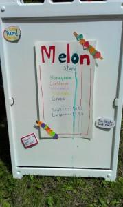 J melon sign