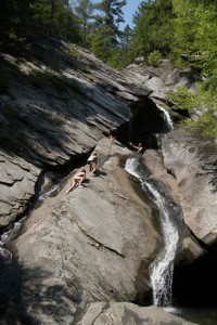 Vermont Swimming Hole scary climg
