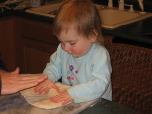 J that same week, engaging in less hazardous cooking activities with two beautiful, fully-intact little hands.
