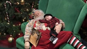 snoozing Santa photo