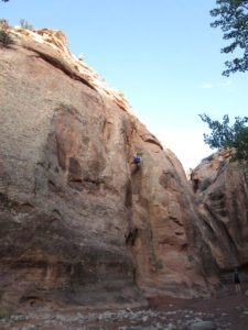 Canyoneering rappel